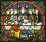 Laon s.xiii window Last Supper