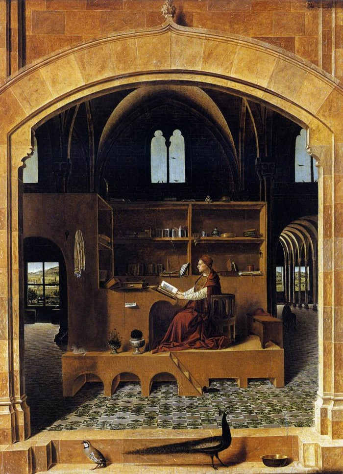 Messina 15 - St Jerome in his study 1476. Nat Gall
