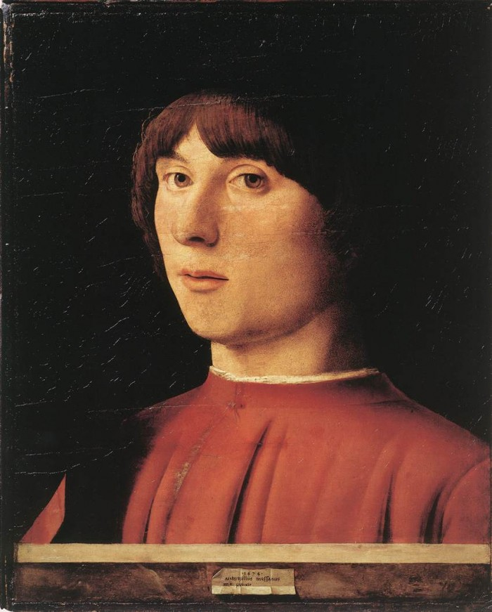 Messina 9 - Portrait of a man. 1474. Berli